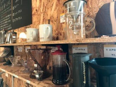 コーヒー体験コーナー